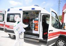 Yaklaşık 30 ambulansın gün içerisinde her vakadan sonra ve 3 cenaze nakil aracının da her kullanımdan sonra BAKOM'da dezenfekte işlemleri gerçekleştiriliyor. Balıkesir Toplu Taşıma A.Ş. (BTT)'ye bağlı otobüsler her sefer sonrasında dolmuş taksi ve ticari taksiler de her talep ettiklerinde Toplu Taşıma Merkezi'nde köşe bucak dezenfekte ediliyor.