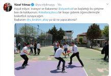Milli Eğitim Bakanı Ziya Selçuk'un çağrısına sosyal medyadan yanıt veren Balıkesir Büyükşehir Belediye Başkanı Yücel Yılmaz, virüs tedbirleri sona erip okullar açıldığında şehirdeki herhangi bir liseye giderek öğrencilerle basketbol oynayacağının sözünü verdi.