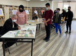 """Bu yıl 57'ncisi düzenlenen """"Kütüphane Haftası"""" dolayısıyla Sultan Alparslan Kültür Evi'nde gerçekleşen organizasyona BAYŞAD Yönetim Kurulu Üyesi Eğitimci Yazar Destan Şairi Yusuf Akgül konuk oldu."""